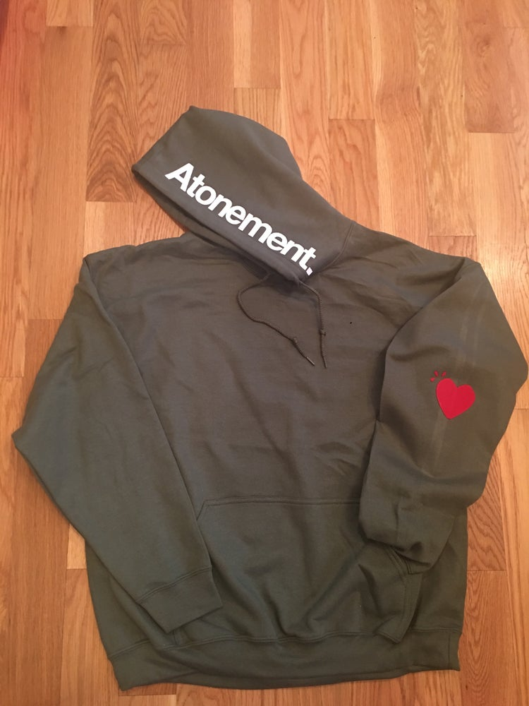 """Image of The """"Heart On My Sleeve"""" Pullover Hoodie"""
