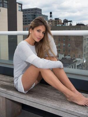 Image of GIRLS SOPHIA SLOUCHY CREW LS Grey Heather