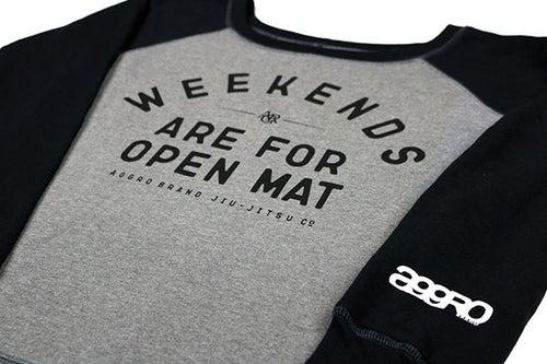 """Image of AGGRO Brand """"Weekends"""" Sweatshirt (Ladies')"""