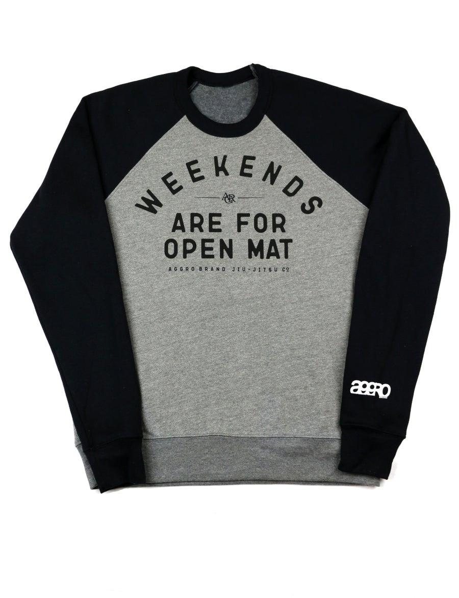 "Image of AGGRO Brand ""Weekends"" Tri-blend Sweatshirt"