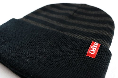 "Image of AGGRO Brand ""Salty"" Cuffed Stripe Beanie"