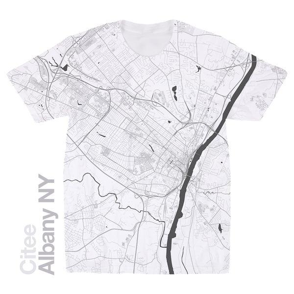 Image of Albany NY map t-shirt