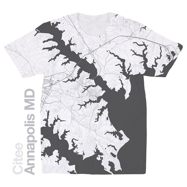 Image of Annapolis MD map t-shirt