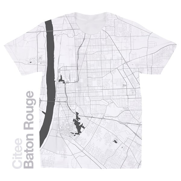 Image of Baton Rouge LA map t-shirt