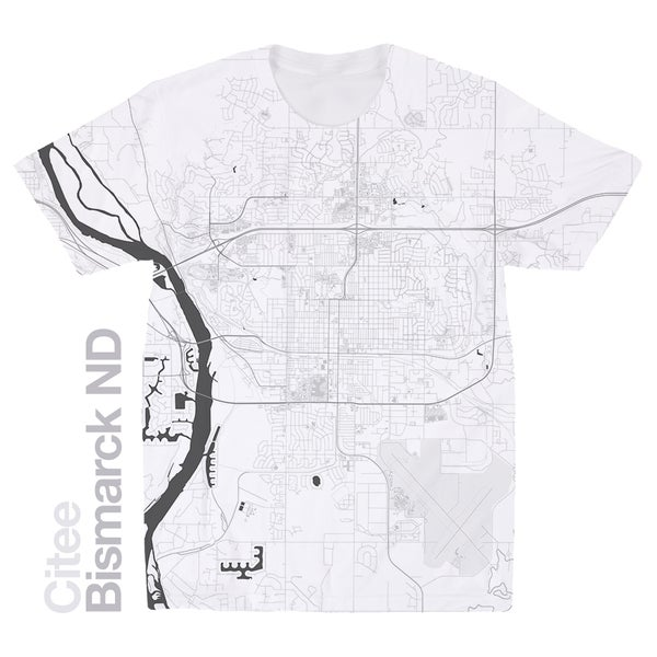 Image of Bismarck ND map t-shirt