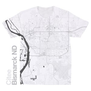 Image of Bismarck ND map t-shirt
