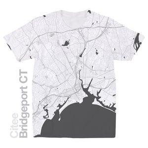 Image of Bridgeport CT map t-shirt