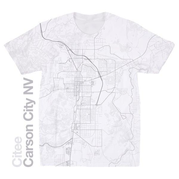 Image of Carson City NV map t-shirt
