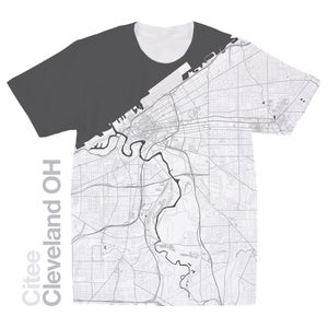 Image of Cleveland OH map t-shirt