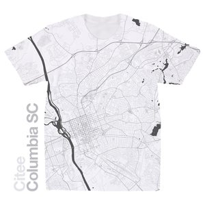 Image of Columbia SC map t-shirt