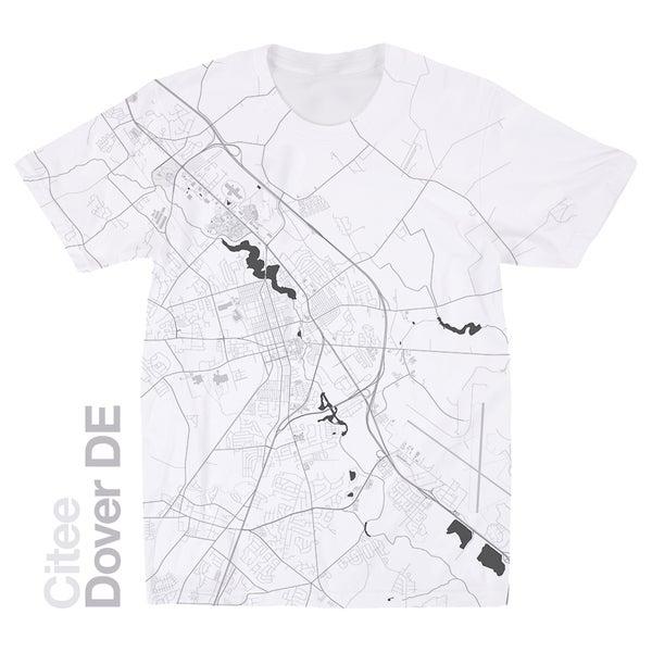 Image of Dover DE map t-shirt