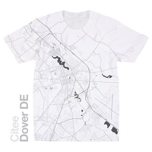 Image of Dover DE map t-shirt
