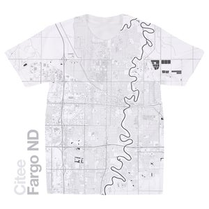 Image of Fargo ND map t-shirt