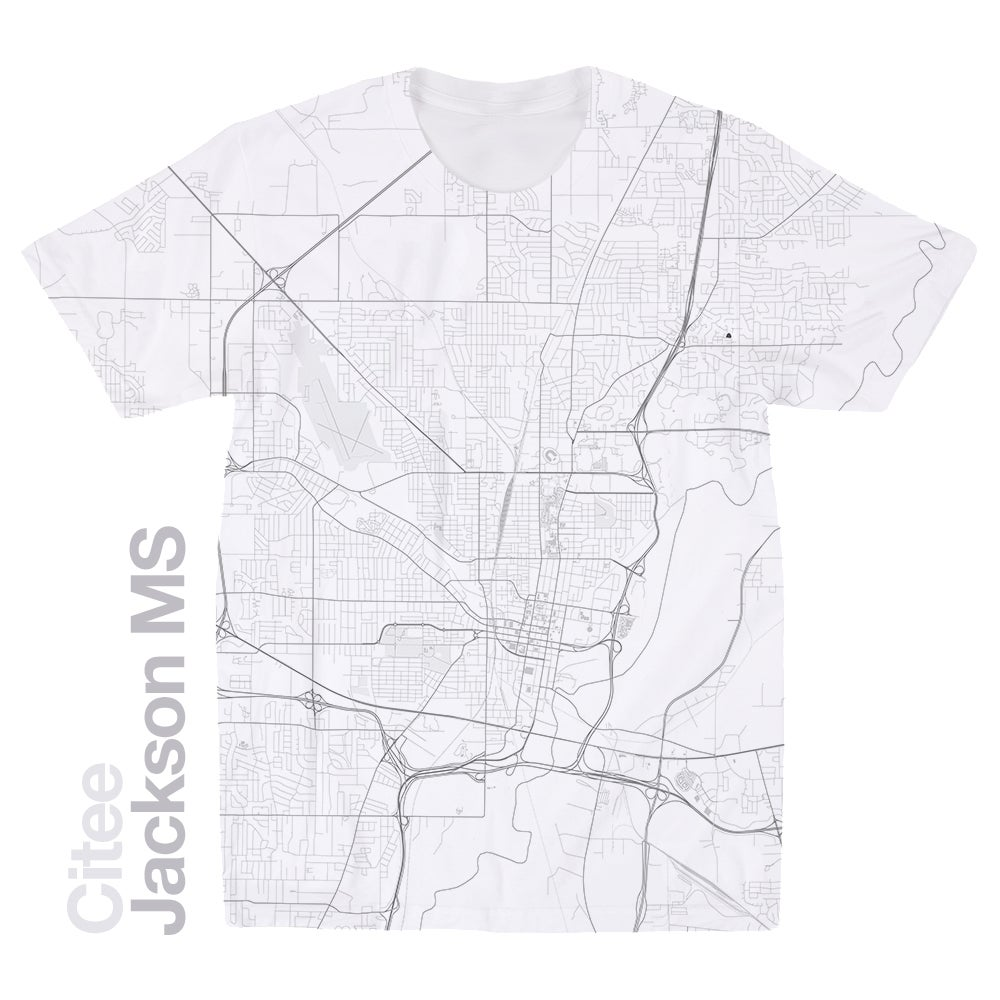 Citee Fashion Jackson Ms Map T Shirt