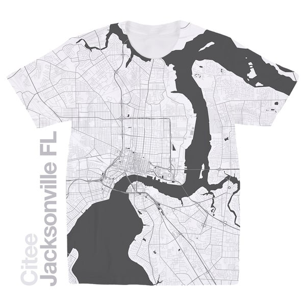Image of Jacksonville FL map t-shirt