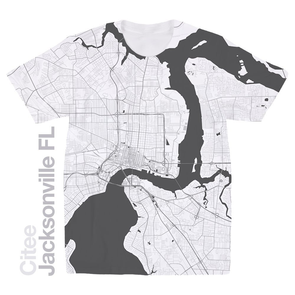 Image of Jacksonville FL map t-shirt