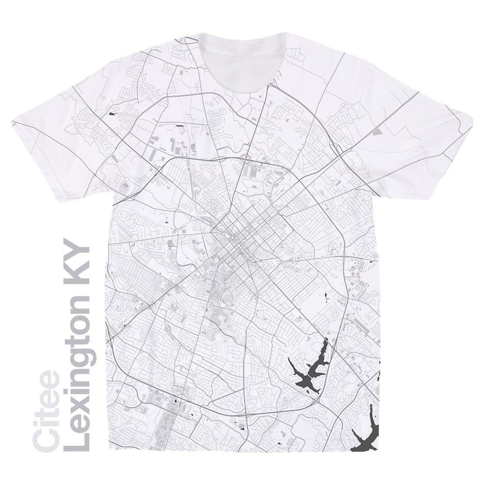 Image of Lexington KY map t-shirt