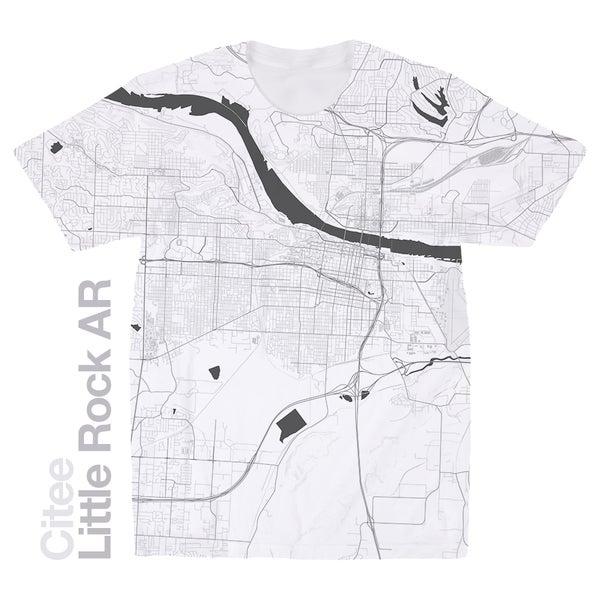 Citee Fashion USA Map T Shirts - Little rock usa map