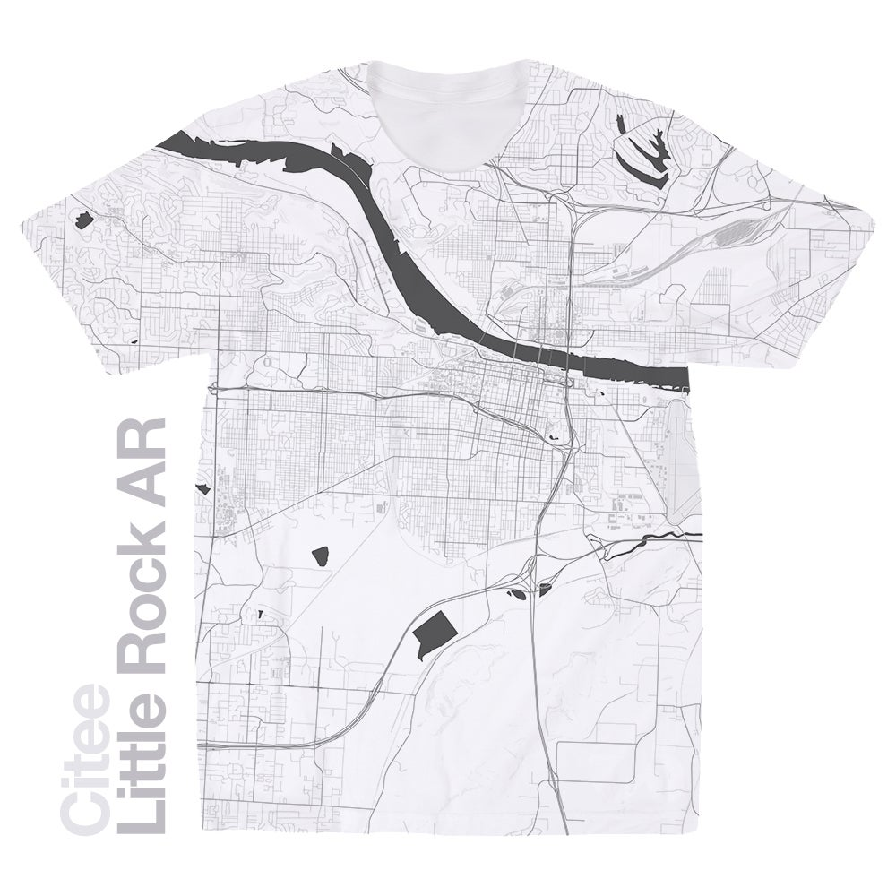 Image of Little Rock AR map t-shirt