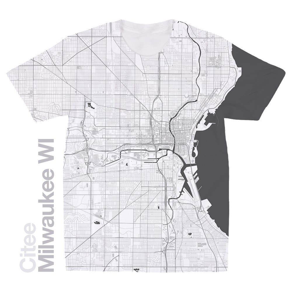 Image of Milwaukee WI map t-shirt
