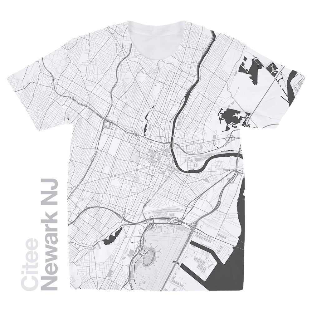 Image of Newark NJ map t-shirt
