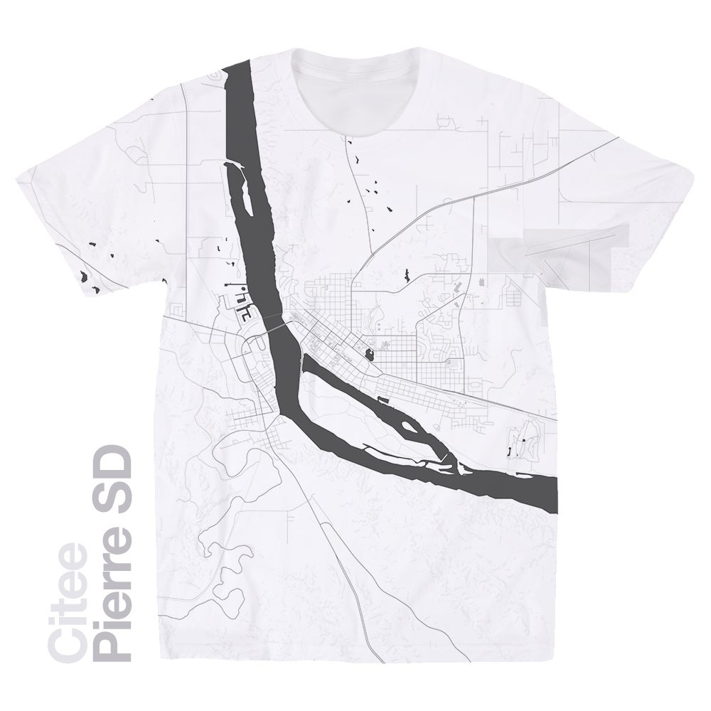 Image of Pierre SD map t-shirt