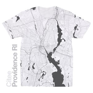 Image of Providence RI map t-shirt