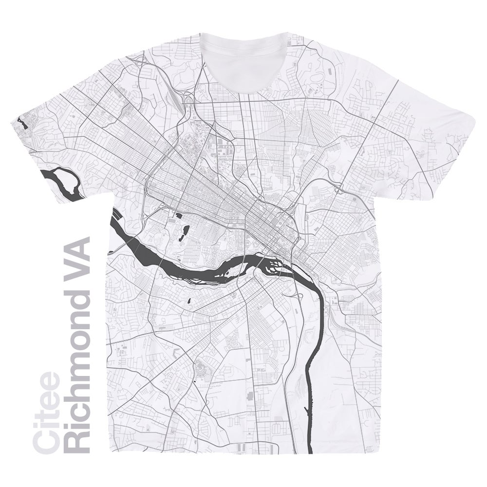 Image of Richmond VA map t-shirt