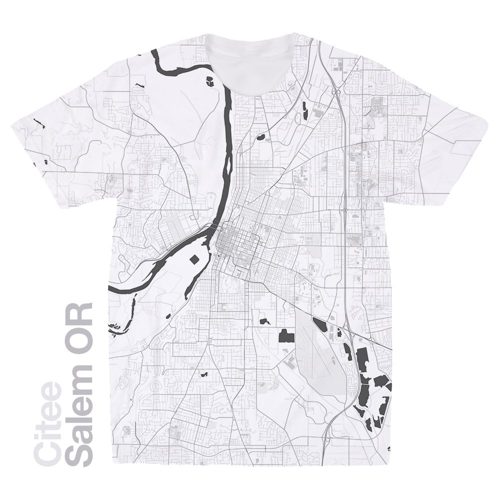 Image of Salem OR map t-shirt