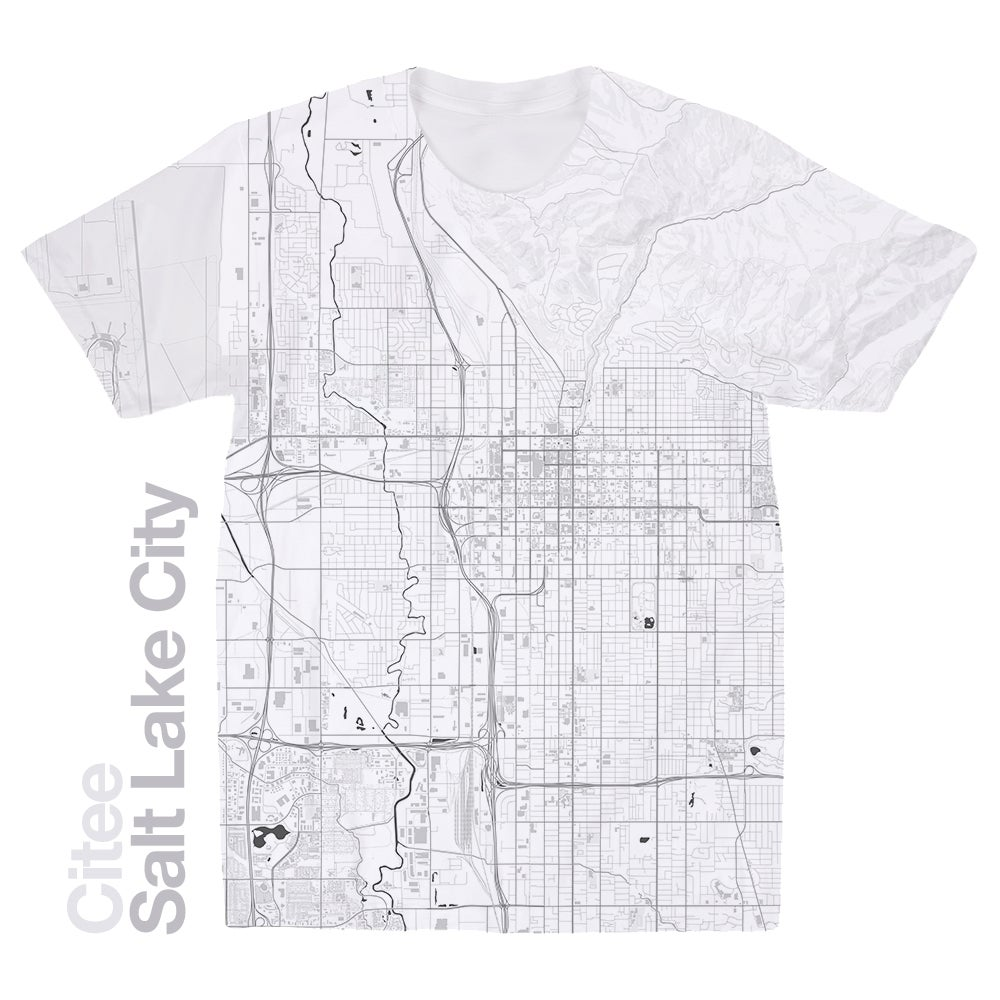 Image of Salt Lake City UT map t-shirt