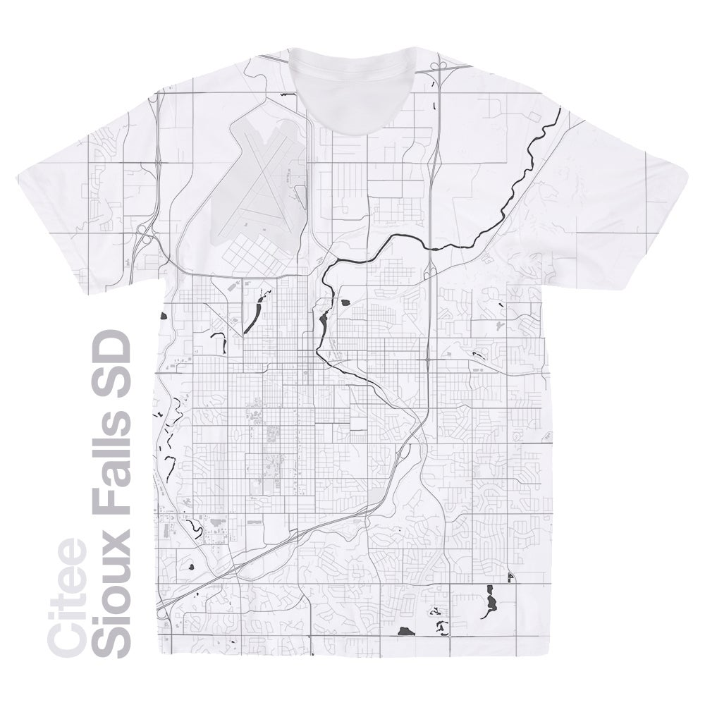 Image of Sioux Falls ND map t-shirt