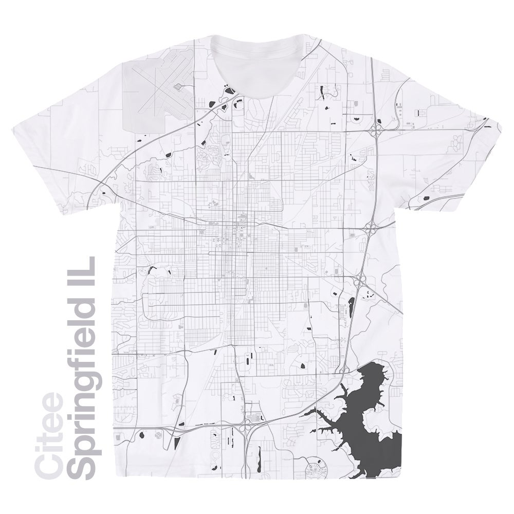 Image of Springfield IL map t-shirt