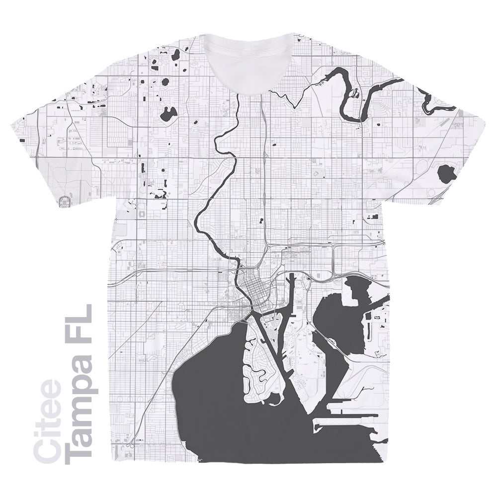 Image of Tampa FL map t-shirt