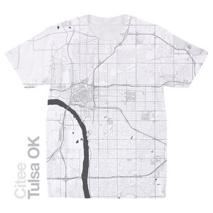 Image of Tulsa OK map t-shirt