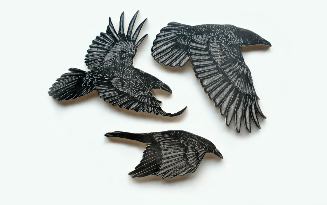 Image of Set of 3 Crows