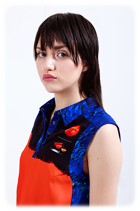 Image of Cropped Collared Top