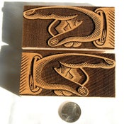 Image of A pair of 12 line Hamilton Manicules