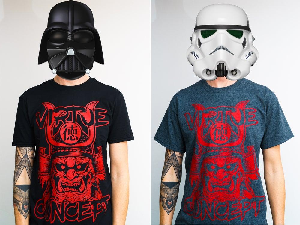 """Image of T-Shirt (schwarz oder dark heather) """"Samurai"""" Unisex"""