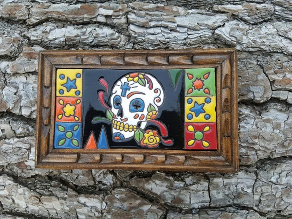Image of cruz Rectangle Wood Framed Tiles