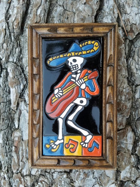 Image of Mariachi Rectangle Wood Framed Tiles