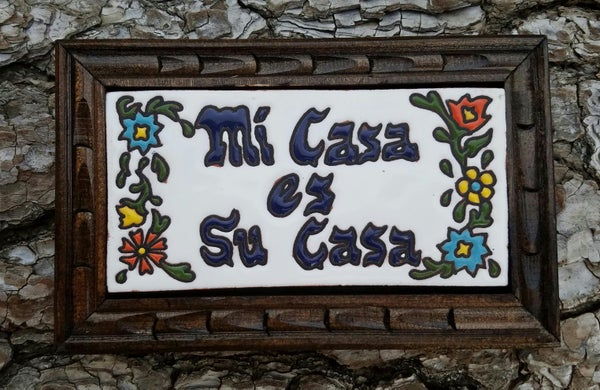 Image of Mi Casa Rectangle Wood Framed Tiles