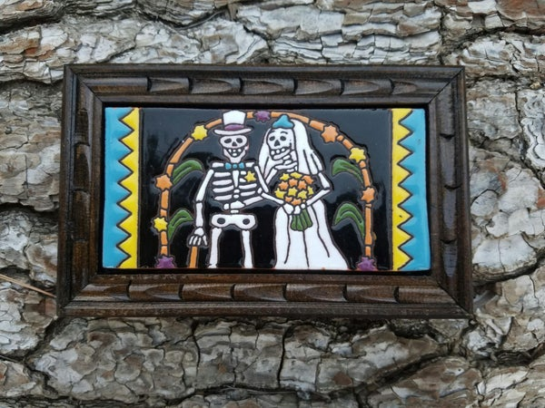 Image of wedding Rectangle Wood Framed Tiles