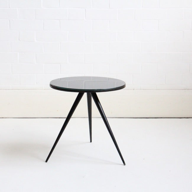 Image of small round side table c1950