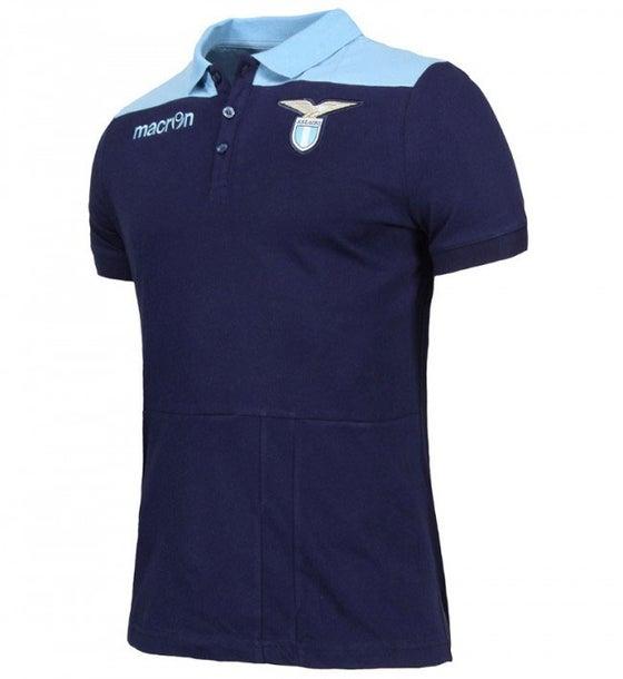 Image of SSL M16 Polo Cotone Jersey Mezza Manica Lazio Ufficiale SR Cel/Nav SR