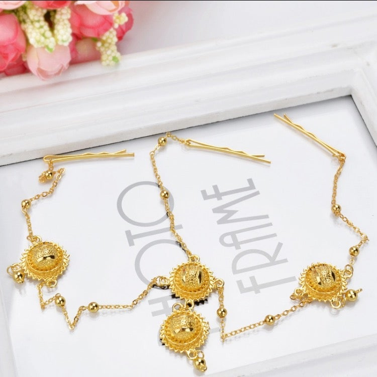 Image of Gold plated Headpiece Chain