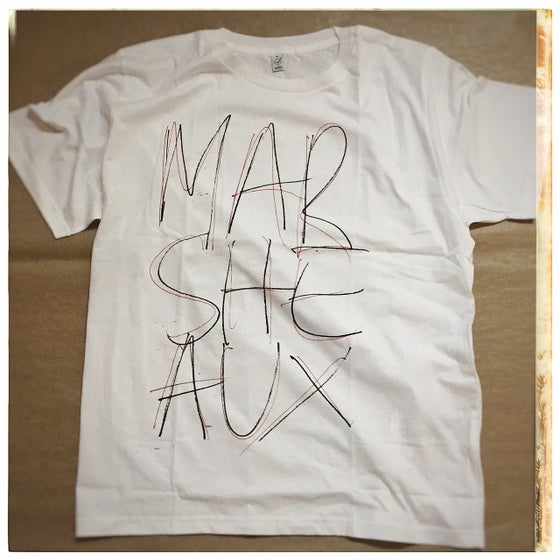 Image of MARSHEAUX: Logo Tshirt (black/red lettering in white shirt)