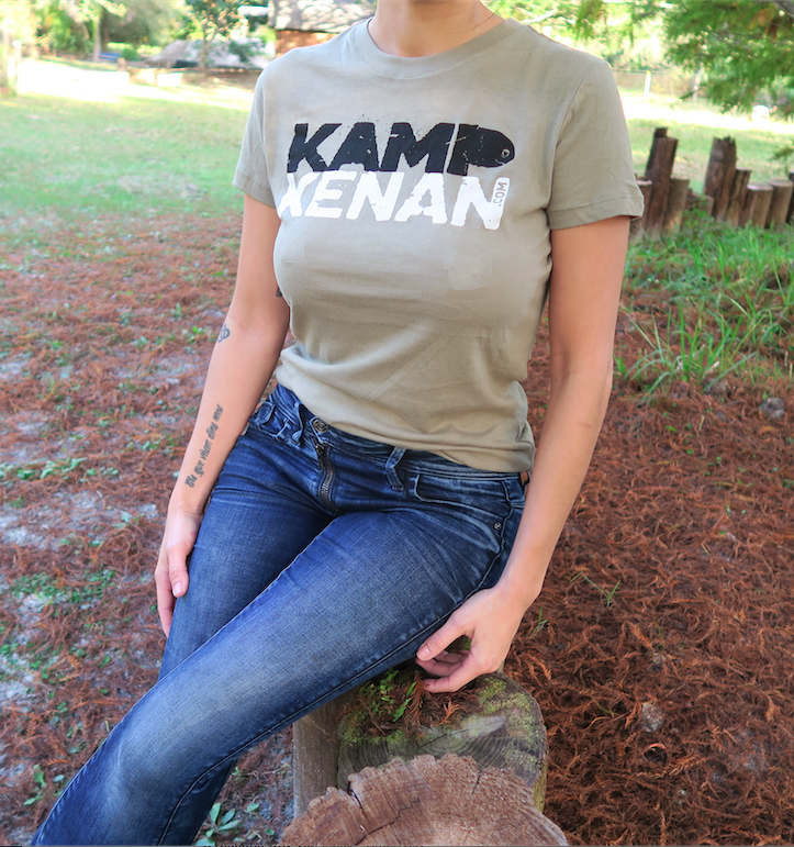 Image of Kamp Kenan - Ladies Tee (Lt. Olive)