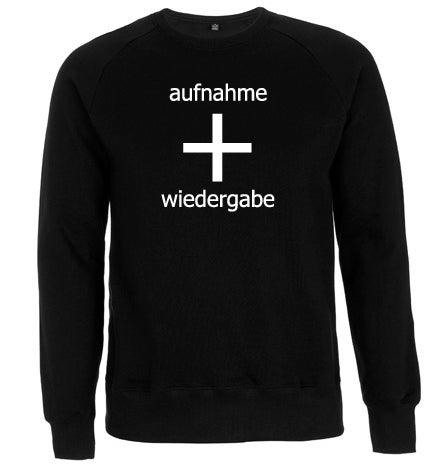 Image of aufnahme + wiedergabe Logo Sweatshirt
