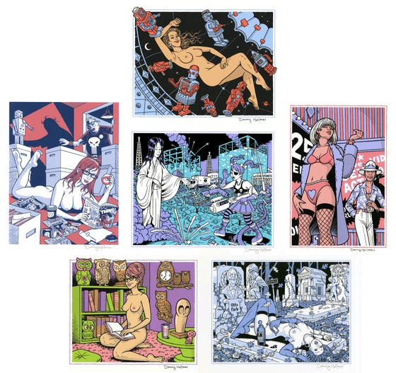 Image of NEW YEAR PRINT BONANZA: Six Signed Screen Prints by DANNY HELLMAN