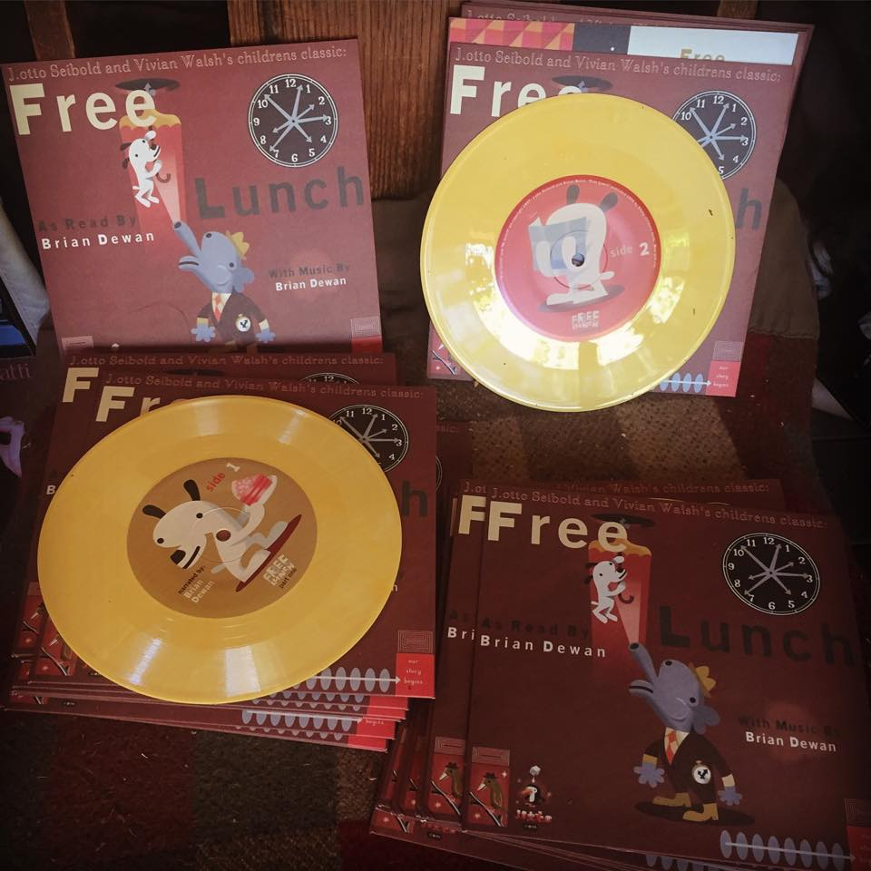 "Image of FREE LUNCH 7"" color vinyl 1997"